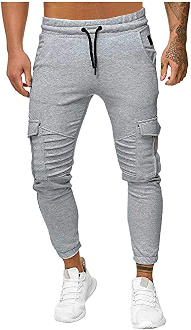 Vpass Pantalones Para Hombre Pantalones Casuales Moda Deportivos Color Solido Pants Jogging Pantalon Fitness Gym Slim Fit Pantalones Largos Pantalones Ropa De Hombre Trabajo Pantalones Amazon Es Ropa Y Accesorios