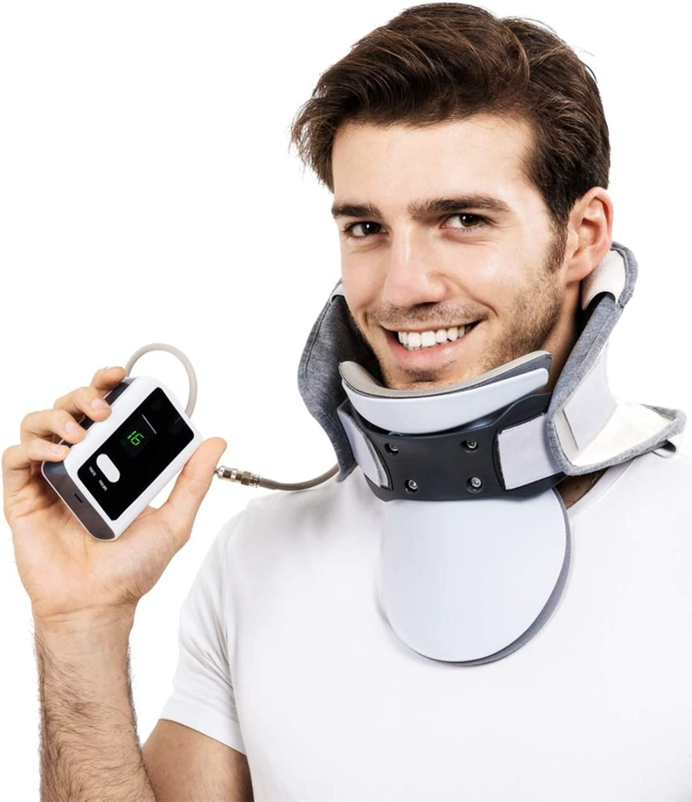 Newest Cervical Neck Traction Device - Adjustable Inflatable Neck Stretcher, Collar for Home Traction Cervical Traction Device, Inflatable Fixed Neck Support, Spine Alignment