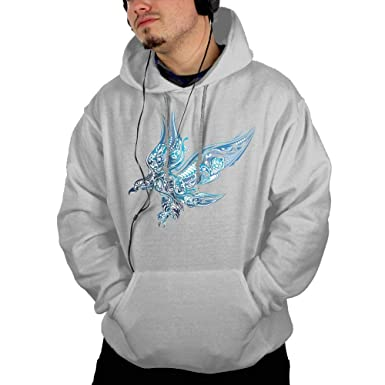 DH-MS Dress Mens Hoodies Print Cotton Long Sleeve Hooded Sweatshirt