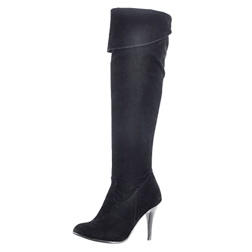 4368b5b9 Nonbrand Ladies stiletto heels over knee boots large size faux leather shoes  UK 1.5