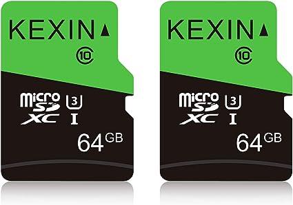 KEXIN Tarjeta Memoria de 64GB, MicroSDXC Tarjeta hasta 80 MB/s ...