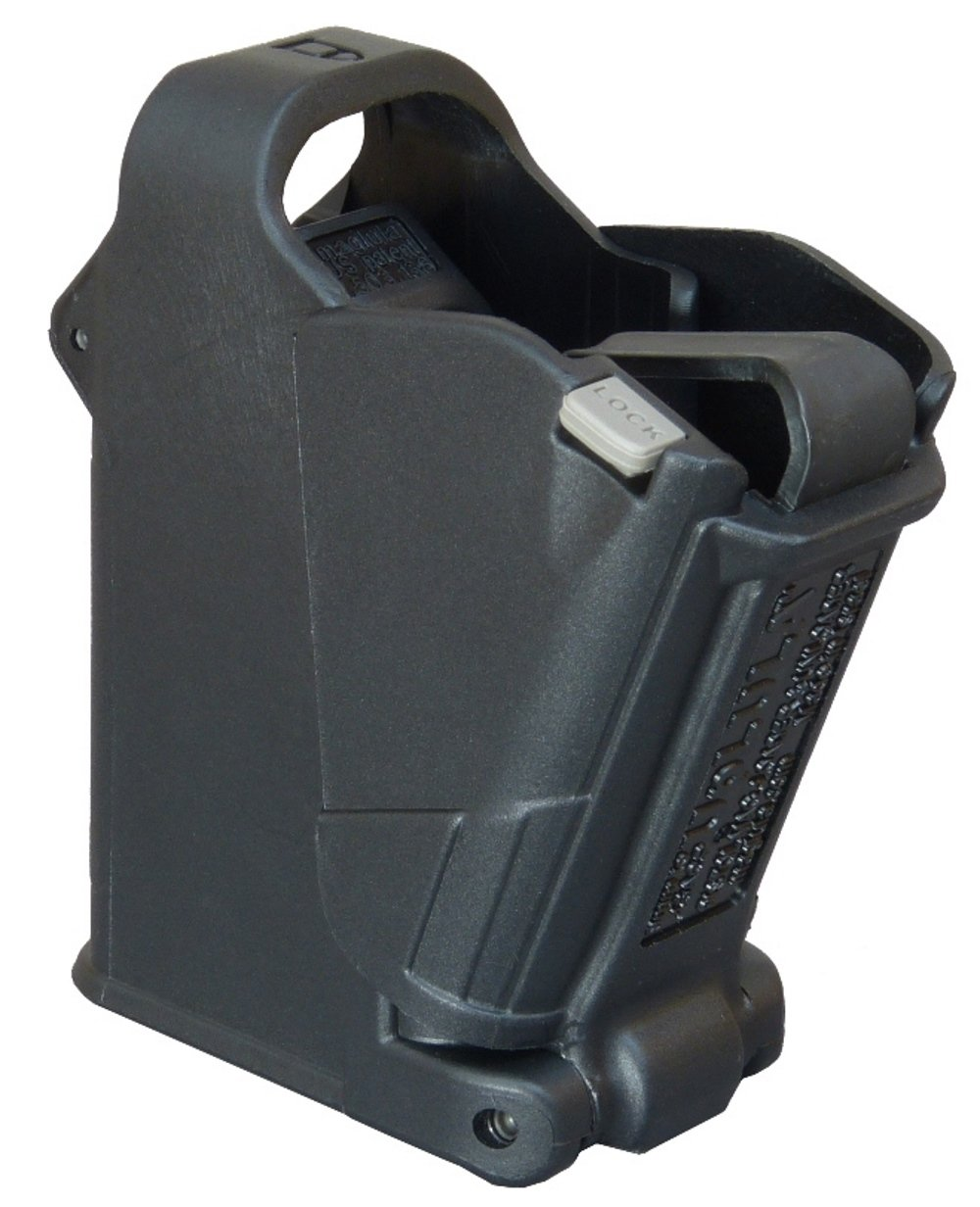 Up-LULA Beretta Speed Mag Loader - 9 mm to 45 ACP Maglula Uplula HandGun Speed Magazine Loader. Loads all 9mm Luger, 10mm, .357 Sig, 10mm, .40, and .45ACP cal berretta by Maglula ltd.