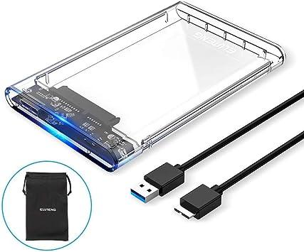 Eluteng Caja Para Disco Duro Externo Usb 3 2 5 0 276 In 0 374 In Sata A Usb Compatible Con Uasp Max 2 Tb Sin Herramientas Computers Accessories
