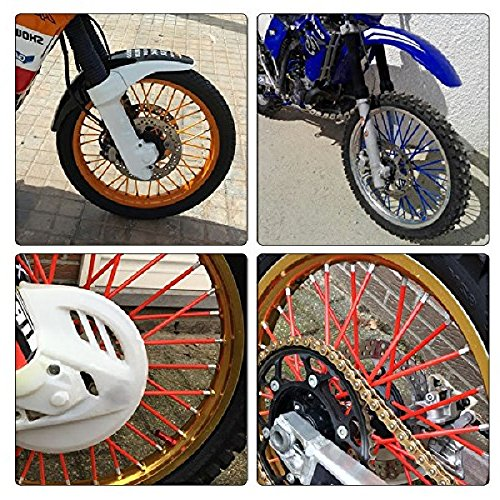 72Pcs Wheel Rim Spoke Skins Covers Wrap Decor Protector Kit For Motorcycle Motocross Dirt Bike (Black) by Gator parts (Image #3)
