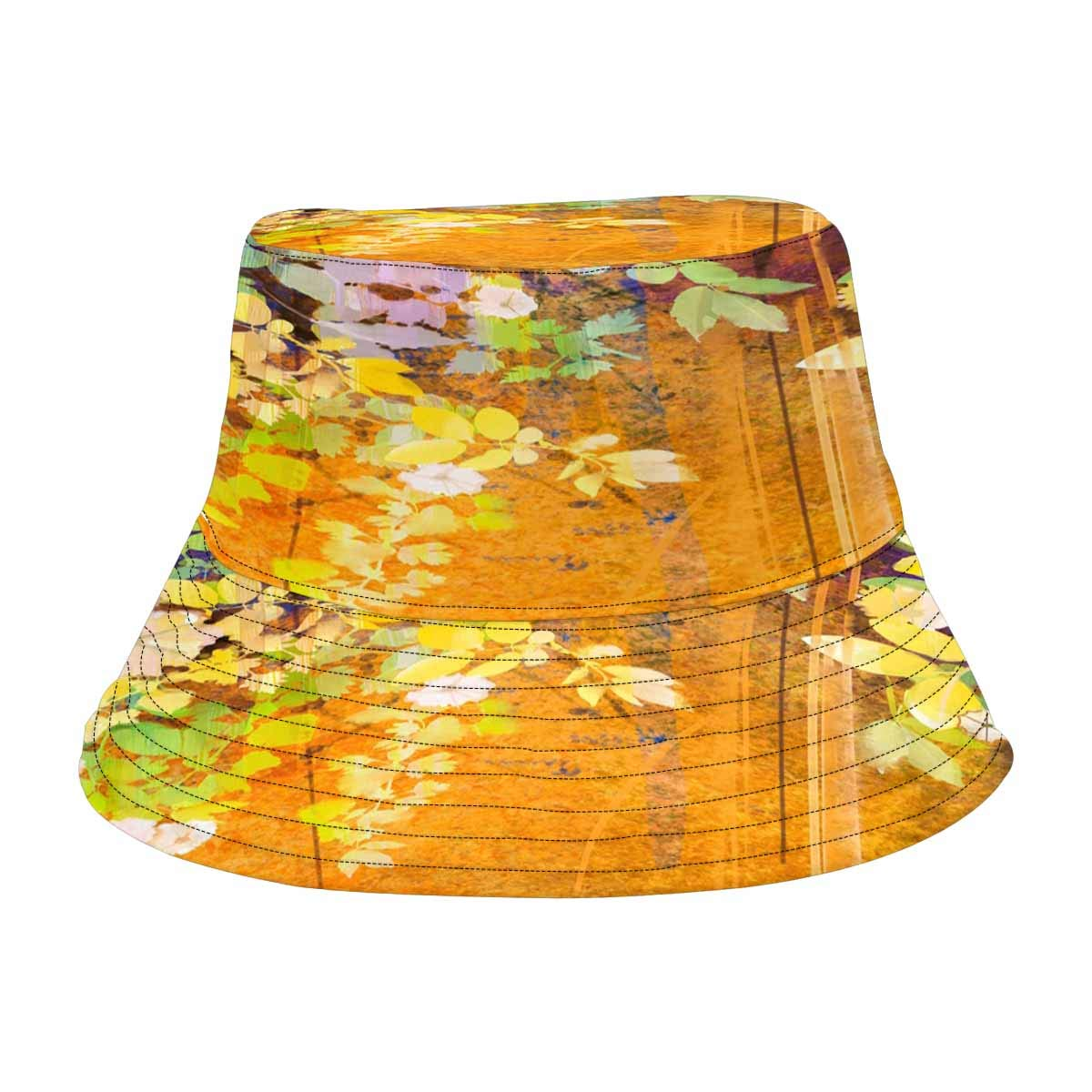 INTERESTPRINT White Flowers and Soft Green Leaves Fisherman Bucket Sun Hat