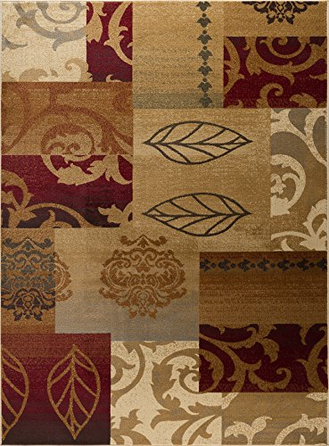 Madalyn Transitional Floral Multi-Color Rectangle Area Rug, 8' x 10'