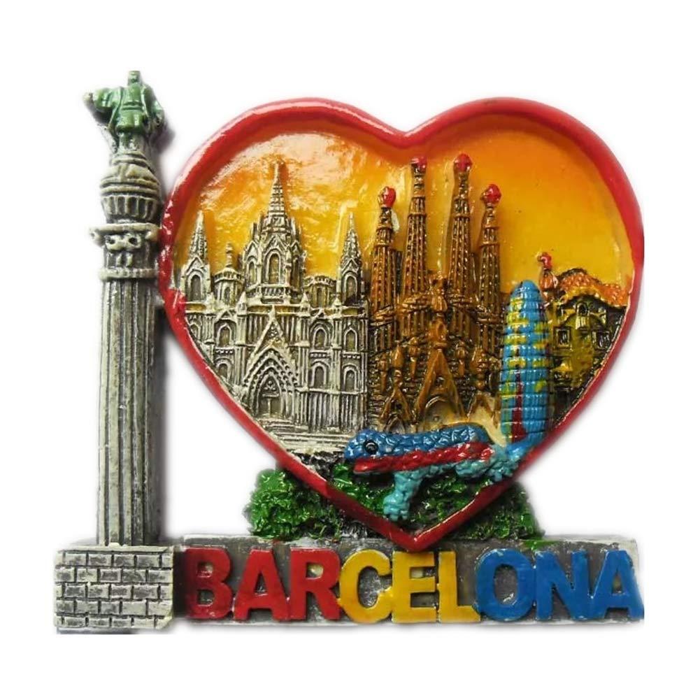 Weekinglo Souvenir Imán de Nevera Barcelona España 3D Resina ...