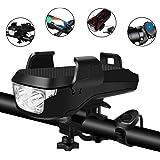 BePrincess USB Rechargeable Bike Headlight Waterproof Cycling Light, Bike Phone Mount Holder, Bike Horn and Power Bank…