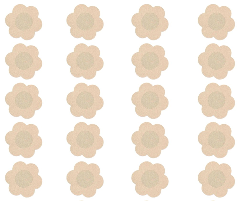 Reusable Protection Pasties In Nude Colour By VAGA High Quality Set of 10 Pairs Self Adhesive Petals Shaped Protective Nipples Covers