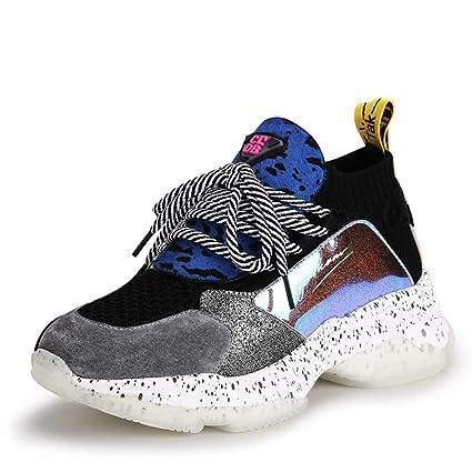 b4a23a4882 YAN Sneakers Donna 2019 Nuovi Sport Scarpe Moda Paillettes Low-Top ...