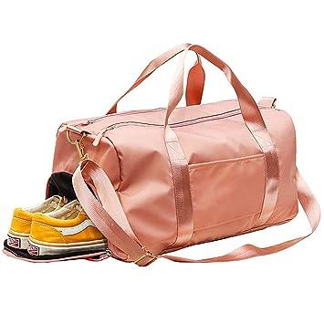 C100AE Bolsa Deporte y Viaje para Mujer y Hombre, Bolsa de Viaje Bolsa de Gimnasio con Compartimento para Zapatos y Ropa Mojada, Multiuso como Mochila ...