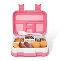 Kids Lunch Box, kids age 3~9, Toddler lunch box, Leakproof 5-Compartments, Bento...
