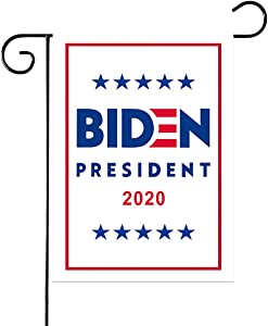 "Medoore American 2020 President Biden Garden Flag, Double Sided Premium Fabric, US Election Patriotic Outdoor Decorative Small Flags for Yard Lawn Patio Porch, 12"" x 18"""