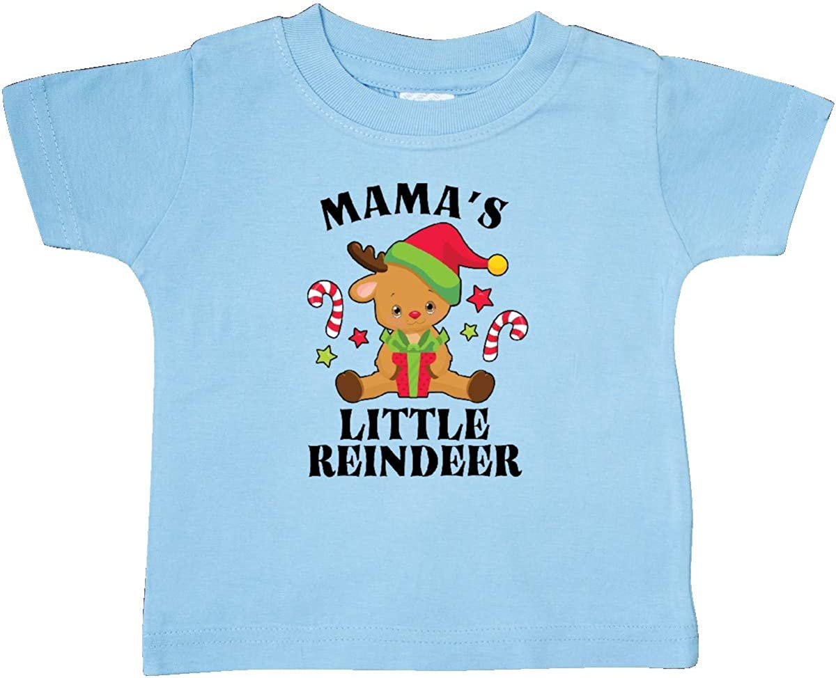 inktastic Christmas Mamas Little Reindeer with Candy Canes Baby T-Shirt