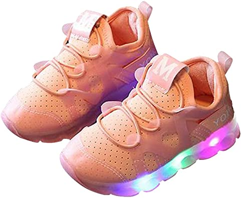 Children LED Kids Boy Girl Lights Casual Mesh Breathable Sports Shoes Sneaker