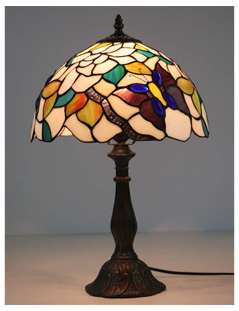Xiuxiu Europäische Kreative Retro Glasmalerei Tischlampe Schlafzimmer Nachttischlampe Esszimmer Wohnzimmer Bar Dekoration Tischlampe B07JFCYRM7 | Exzellente Verarbeitung