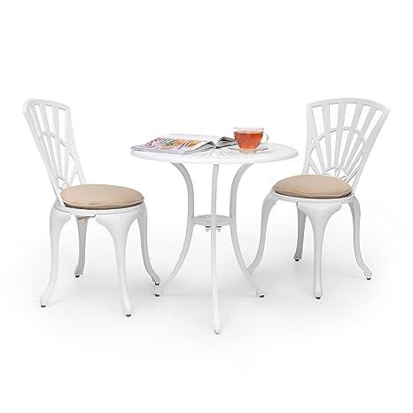 Tavoli E Sedie Da Esterno In Alluminio.Blumfeldt Valletta Set Bistro Tavolo E 2 Sedie Da Interno Esterno