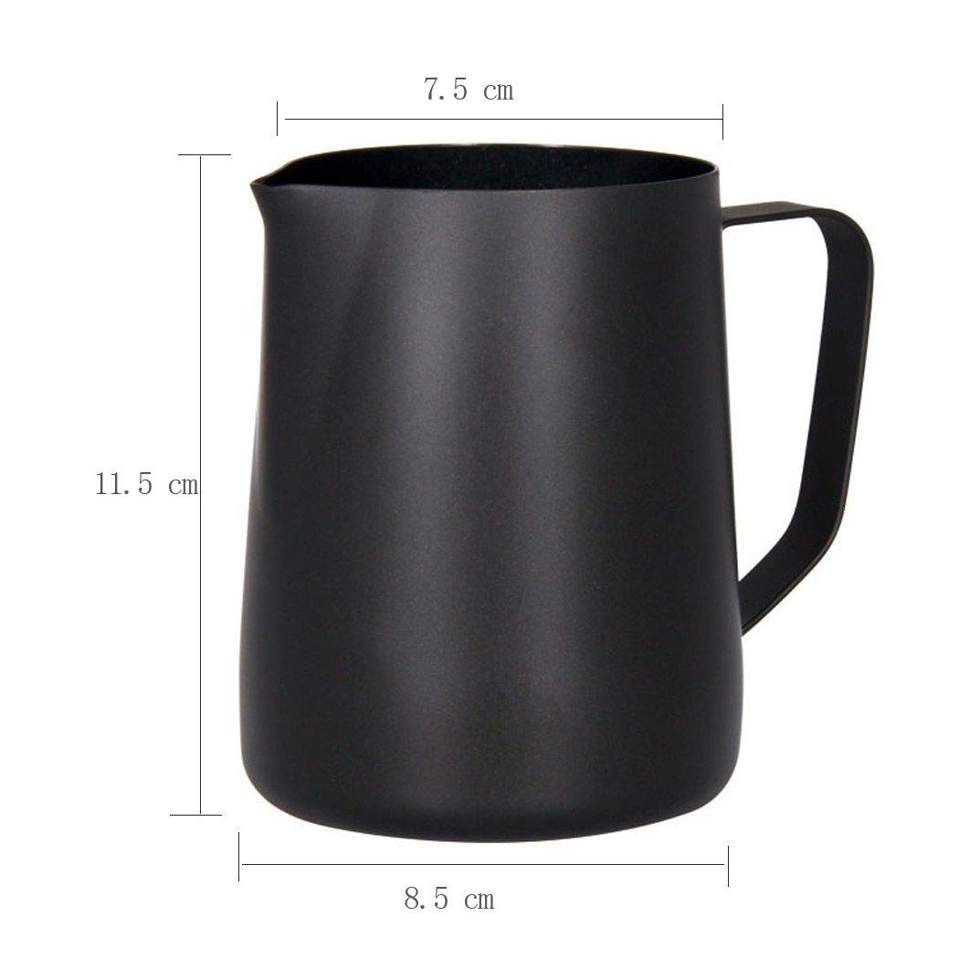 Sipliv 20 oz (600 ml) de acero inoxidable espresso jarras humeantes leche espumante jarra crema macchiato capuchino latte art making jarra tazas jarra ...