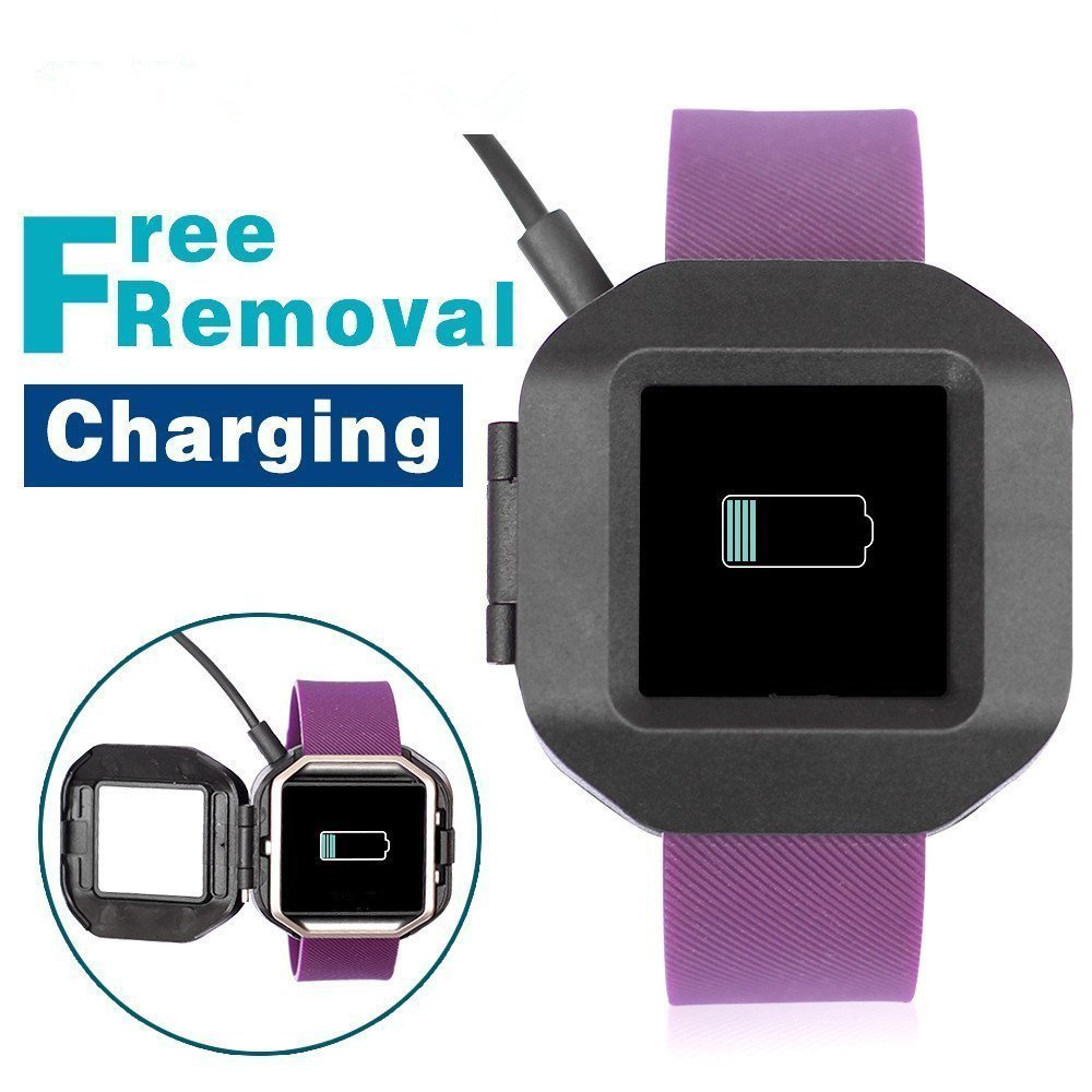 AWINNER Easy Charger Clip Compatible with Fitbit Blaze -Replacement USB Charger Adapter Charge Cord Charging Dock Cable 618ZtWhuAsL