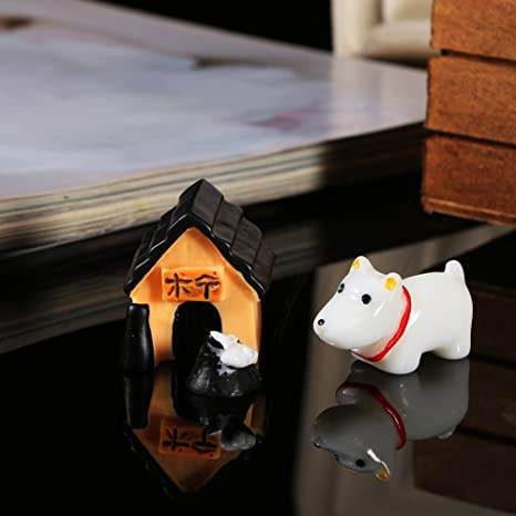 3 Unids/Set Mini Lindo de Hadas Miniatura Rana de Perro Ornamento Kit de Artesanía de Resina Figuras de Perro DIY Jardín Casa de Muñecas Paisaje Escritorio ...