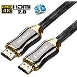 ハイスピードHDMIケーブル 4K 3D イーサネット 24 k金メッキ端子 テレビ/Xbox /PS4などに対応 2m