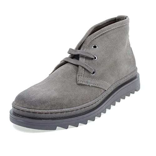 12d73e2f07bca Suede High Shoes With Laces Made In Italy Taupe: Amazon.co.uk: Shoes & Bags