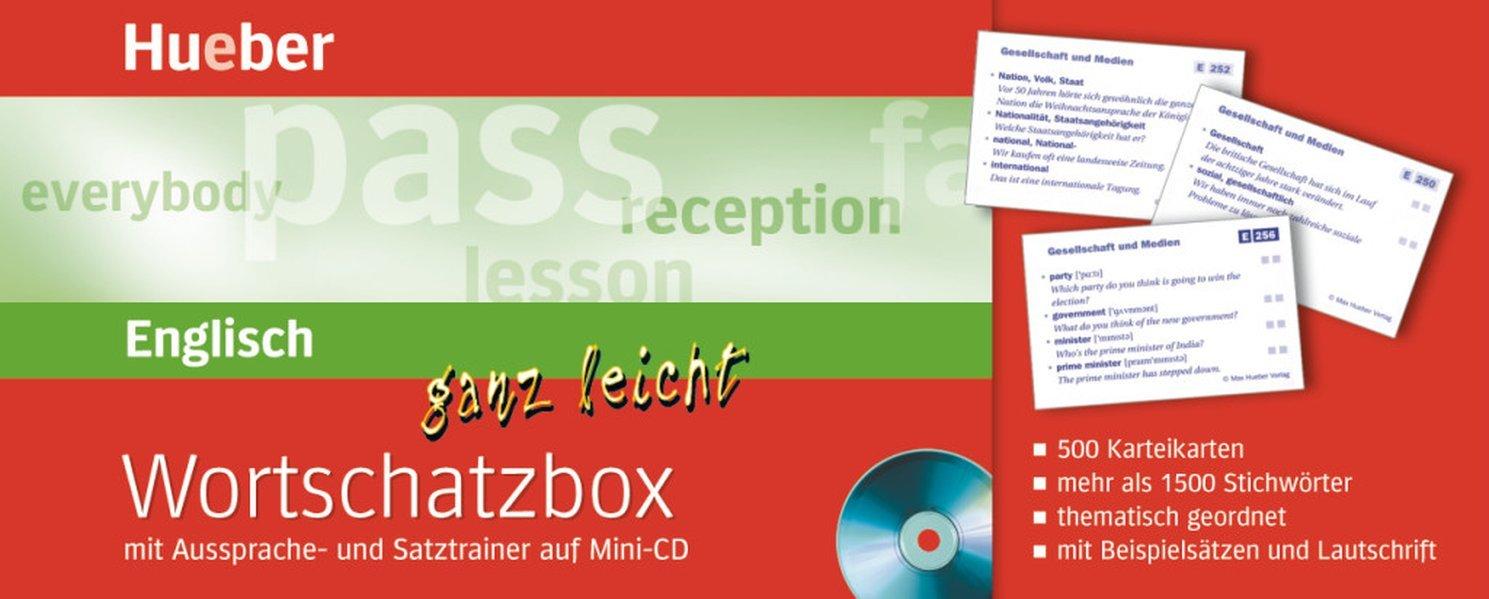 Englisch ganz leicht. Wortschatzbox. Mit Aussprache- und Satztrainer auf Mini-CD