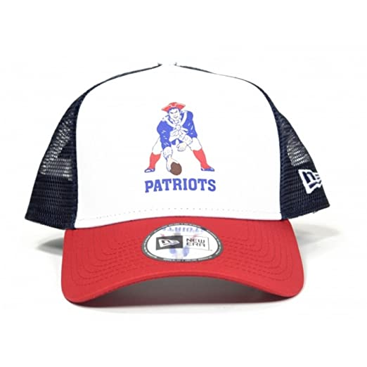 98e99190 New Era NFL Throwback A-Frame Trucker Cap (New England Patriots):  Amazon.co.uk: Sports & Outdoors