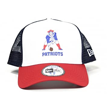 New Era NFL Throwback A-Frame Trucker Cap (New England Patriots ... dd86be2b17c