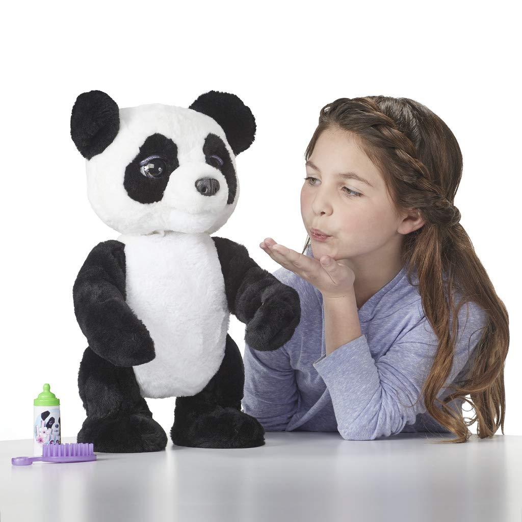 ab 4 Jahren interaktives Pl/üschspielzeug Mein Knuddelpanda Hasbro FurReal Friends E85935S1 FurReal Plum