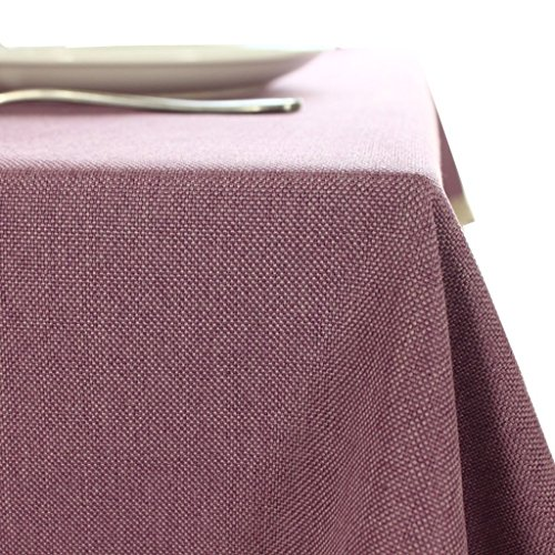 HOMEE Cotton linen tablecloth ,Japanese art simple style ,Solid plain color dining table cloth for home ,Hotel cafe restaurant ,Purple 135200cm by HOMEE