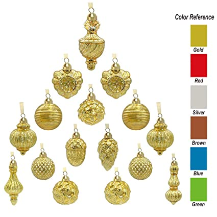 Antique Christmas Ornaments >> Amazon Com Youseexmas Antique Mercury Glass Christmas Ornaments
