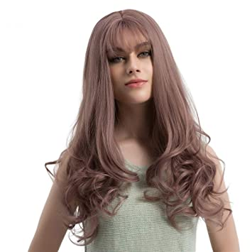 Amazon Com Curly Synthetic Hair Wig 24 Long Silver Grey And White