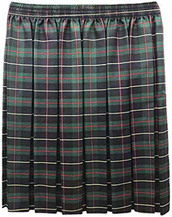 Momo/&Ayat Fashions Girls Tartan Check School Casual Box Pleated Skirt Age 2-18 Years