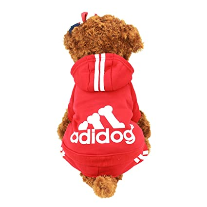 Idepet(TM Adidog Pet Dog Cat Clothes 4 Legs Cotton Puppy Hoodies Coat Sweater Costumes