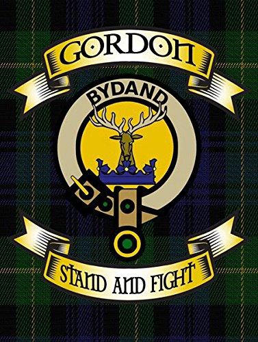 Gordon Tartan Metal Sign, Scottish Clan Plaid and Motto