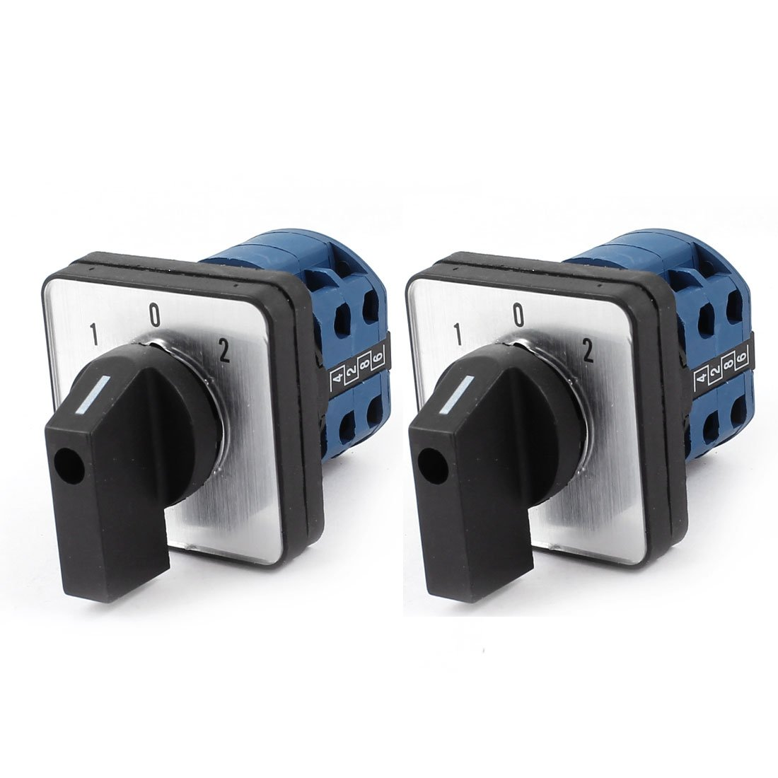 AC 660V 20A 3-Position Latching Rotary Changeover Switch 2 Pcs by uxcell (Image #1)
