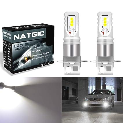Tbest 2x H3 5050 Blanco 9 SMD LED Xen/ón DC12V Bombillas LED para faros antiniebla para autom/óviles 6500K Faros antiniebla LED para autom/óviles