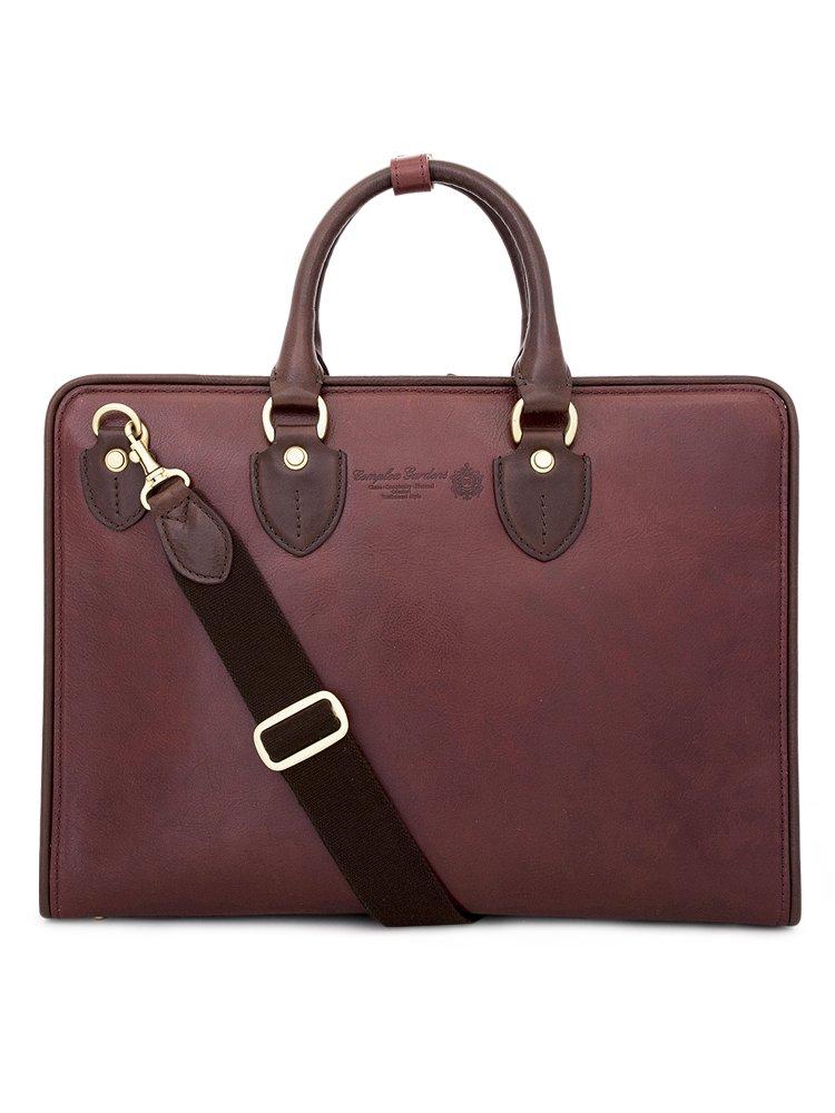 青木鞄(COMPLEX GARDENS)ビジネスバッグ メンズ 革 [如浄 ニョジョウ No.3096] B00ENBIKM2 レッドブラウン×ダークブラウン レッドブラウン×ダークブラウン