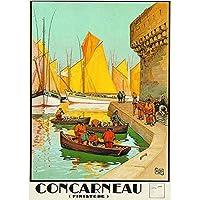 Poster/Cartel Francia Vintage Pub Retro 50x70cm Ciudad