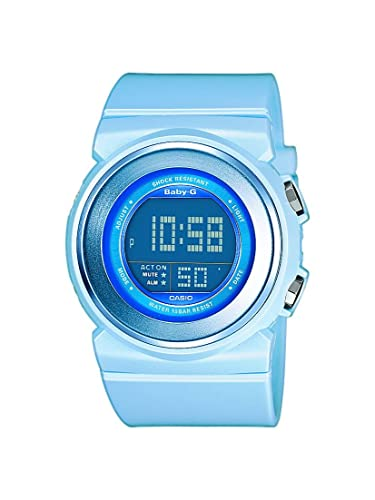 Casio Baby-G - Reloj digital de mujer de cuarzo con correa de resina azul (alarma, cronómetro, luz) - sumergible a 100 metros: Amazon.es: Relojes