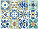 backsplash tile designs  12 PC Pack Backsplash Tile Stickers 6x6 Inch (15x15cm) for Home Decoration Bathroom & Kitchen Vinyl Tile Decals Peel and Stick DIY Wall Sticker Stairs Decals (TS12-001)