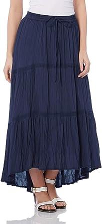 Roman Originals Women/'s Blue A-Line Denim Skirt Sizes 10-20