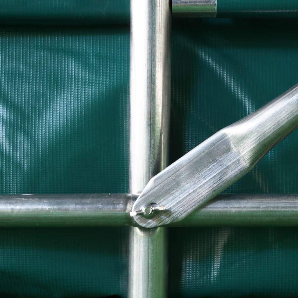 vidaXL Tente de Garage Auvent Abri de Stockage Tente de Rangement Tente dAbri dAuto Ext/érieur R/ésistance /à leau PVC 1,6x2,4 m Vert
