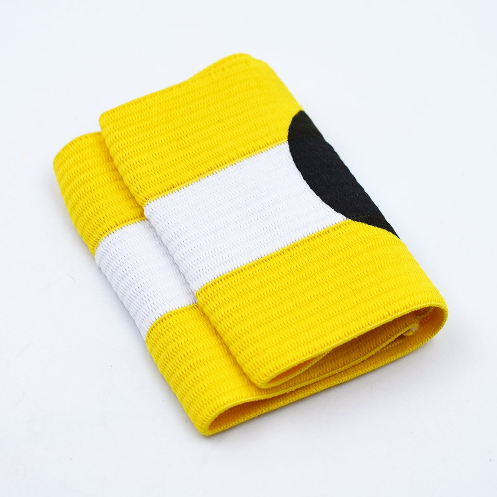 Vektenxi 1 ST/ÜCKE Durable Football Soccer Captain Armband Einstellbare Nylon Player Bands mit Klettverschluss Anti-Fall f/ür Gaming Use Gelb