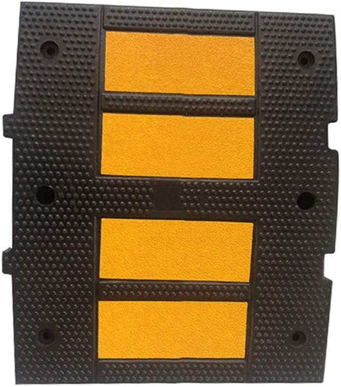 DJSMxpd Convenience Rubber Export Speed Bump Reflective Highway Buffer Thickening Airbrake Vehicle Ramps Kerb Ramps Non-Slip Ramps 50 60 5CM
