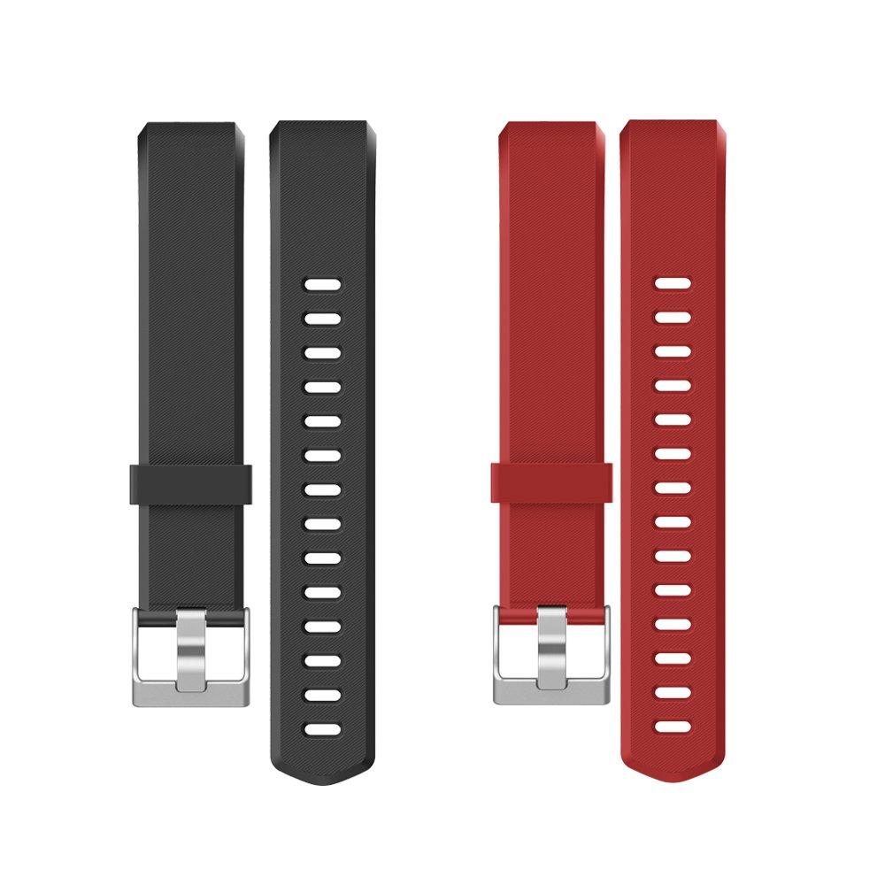 Yamay Correas Reemplazables para Pulseras de Actividades SW333 (Negro + Rojo) product image