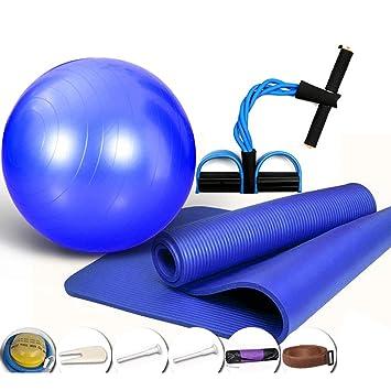 CAJOLG Esterilla Yoga Gruesa Colchoneta Gimnasia Set, Yoga ...
