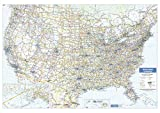 USA Wall Map - Large - 54 x 38 inches - Laminated - Flat Tubed