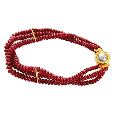 red gold bracelet in tennis ruby black carats